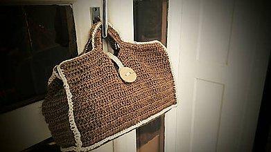 Veľké tašky - Jutová taška (trebárs do kúpeľne) - 6552373_