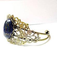 Náramky - Vintage Lapis Lazuli / Náramok s lazuritom v bronzovom prevedení - 6553375_