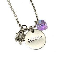 Náhrdelníky - šťastie náhrdelník so swarovski - 6552030_