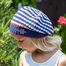 Detské čiapky - Čiapočka pre námorníčku - 6552917_