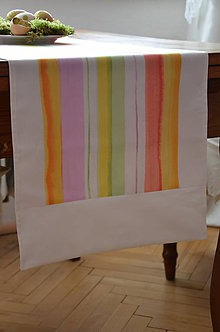 Úžitkový textil - Štóla vo farbách jari dlhá 195 cm - 6552218_