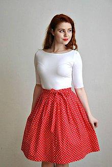Sukne - Zavinovací sukně s puntíky - 6554450_
