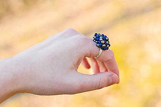 Prstene - prsteň z lapis lazuli a pyritu - 6554557_