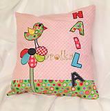Textil - Detský bavlnený vankúšik - Rozprávkový - 6556884_