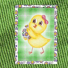 Papiernictvo - Veľkonočné pohľadnice Malé kuriatko - 6556492_