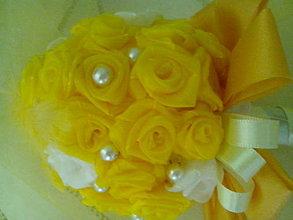 Kytice pre nevestu - malá žltá - 6561622_