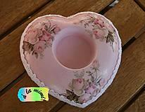 Svietidlá a sviečky - Svietnik Ružový vintage - 6560141_