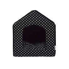 Pre zvieratká - Bouda pro psy, 2v1, no. 8, černá s puntíky - 6560176_