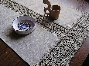 """Úžitkový textil - *** Ľanová štôla II. - z truhlice """"Ómama"""" *** - 6561526_"""