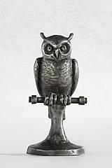 Socha - Sovička - originální cínová socha - výr skalný - 6558279_