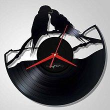 Hodiny - 2 birds - LP vinyl clocks - 6559336_