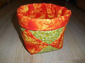 Úžitkový textil - Košík - na všeličo - 6560975_