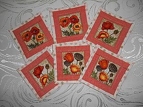 Úžitkový textil - Prestieranie - divé maky - 6561226_