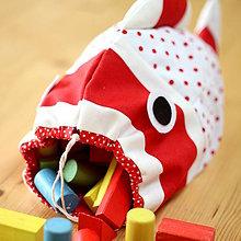 Detské tašky - VRECÚŠKO na hračky, (červené) - 6559943_