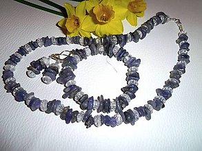 Sady šperkov - tanzanit kryštál súprava - 6558814_