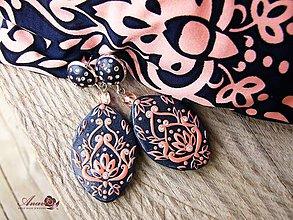 Náušnice - Náušnice s ornamentom k obľúbenému oblečeniu - 6558694_
