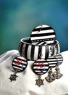 Sady šperkov - Pásikavá sada šperkov - Strajpy - 6561785_