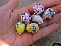 Dekorácie - Mini veľkonočné vajíčka s očkom 6ks, č1511 - Akcia - 6561177_