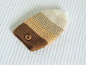 Detské čiapky - Jarná čiapka v hnedých tónoch - 6558392_