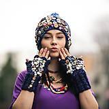 Čiapky - 0rigo set gombikovo, ciapka + rukavice - 6561969_