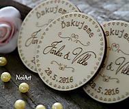 Svadobné magnetky Koliesko ornamenty