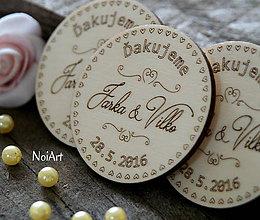 Darčeky pre svadobčanov - Svadobné magnetky Koliesko ornamenty - 6565308_