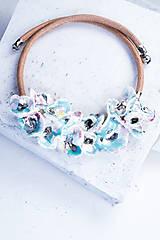 Náhrdelníky - náhrdelník porcelán_ kvetinová - 6565395_