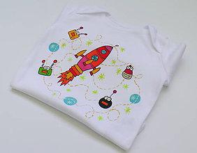 Detské oblečenie - Detské body Vesmír pre dievčatko - 6564300_