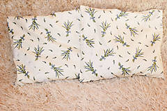 Úžitkový textil - Nezábudka: Pohánkový nahrievací vankúšik Levanduľa - 6564158_