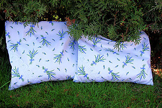 Úžitkový textil - Nezábudka: Pohánkový nahrievací vankúšik Levanduľa - 6564160_