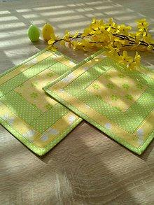 Úžitkový textil - Podšálky.. jarné slnko :) - 6564198_