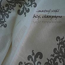 Textil - Matný voál š.330cm, v barvě bílé a champagne - 6565502_