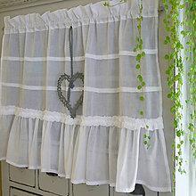 Úžitkový textil - Jemňoulinkatá záclonka AMELIE 118x50cm - 6565639_