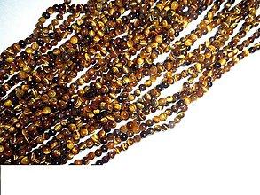 Minerály - tigrie oko 4mm korálky - 6563635_