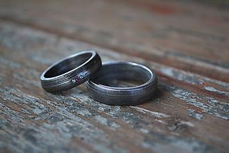 Prstene - Svadobné obrúčky z nerezového damašku - 6564100_