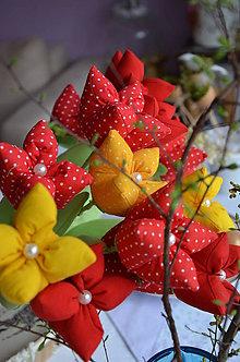 Dekorácie - Tulipán červený - 6562465_
