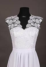 Šaty - Svadobné šaty v ľudovom motíve s vlečkou - 6563822_