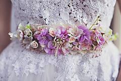 Opasky - Svadobný kvetinový opasok