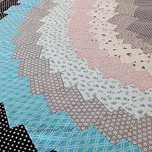 Úžitkový textil - Obrus spiral Bargello šedé - 6562639_