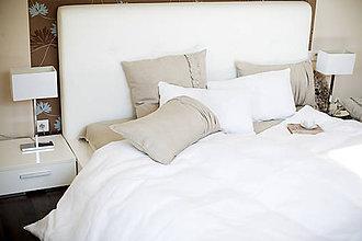 Úžitkový textil - Ľanové posteľné obliečky LaTTe MacChiaTo - 6562958_