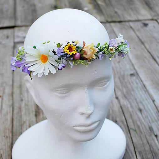 Venček do vlasov z lúčnych kvetov   DEKOART - SAShE.sk - Handmade ... 6c5f8385553