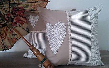Úžitkový textil - vintage vankúš 40 x 40 cm - 6569223_