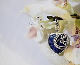 Náhrdelníky - Sodalitové srdce - 6568863_