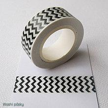 Papier - čierny cikcak - 6567923_