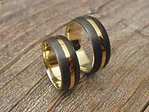 Prstene - Obrúčka z damašku a zlata 1 - 6567514_