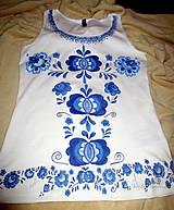 Topy - Modranská - maľované tričko - 6568998_