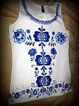 Topy - Modranská - maľované tričko  - 6569000_
