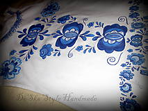 Topy - Modranská - maľované tričko - 6569003_
