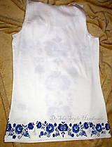 Topy - Modranská - maľované tričko - 6569018_