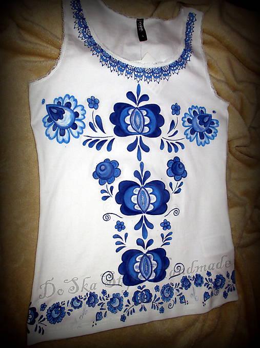 Modranská - maľované tričko